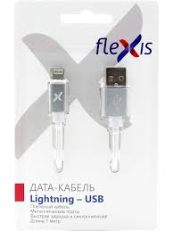 <b>Аксессуар Flexis Braided USB</b> - Lightning 8pin 1m Silver FX-CAB ...