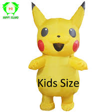 Children <b>Pikachu Inflatable Costumes Halloween</b> Cosplay Costume ...