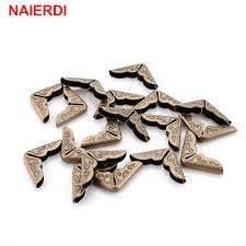 NAIERDI 100pcs <b>15x15x3mm Antique</b> Brass Metal Book ...