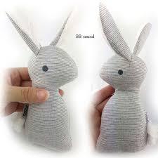 <b>1pcs</b> 0 12 months BB Rabbit <b>Baby</b> Toys <b>Plush</b> Bunny Rattle mobiles ...