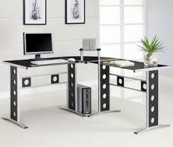 gallery contemporary glass office desk cool roll top computer desk and contemporary l shaped black stainless amazing home office desktop computer