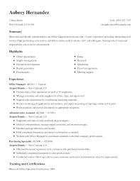 create my resume examples of resumes for administrative positions