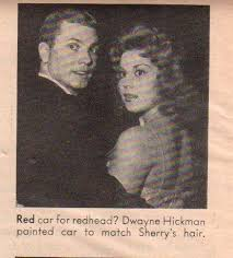 Sherry Jackson and her ex-boyfriend Dwayne Hickman in 1960s