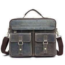 <b>Mens</b> Messenger <b>Bag Mens Briefcase Crazy</b> Horse <b>Leather Retro</b> ...