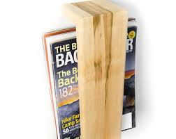magazine rack wall mount: magazine rack wall mounted floating shelf maple hardwood magazine holder