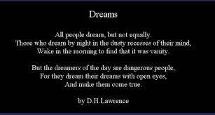 Dreams quote by D.H. Lawrence | Online Poetry Archives via Relatably.com