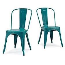 set of 2 turquoise french bistro metallic steel xavier pauchard tolix a style chairs in powder chairs xavier pauchard