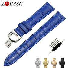 <b>ZLIMSN</b> Italy <b>Genuine</b> Leather Watch Bands Replacement Butterfly ...