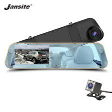 <b>Jansite Car DVR</b> 1080P <b>Dual</b> cameras rearview <b>Car camera</b> mirror ...