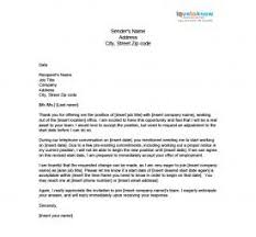 sample job acceptance letter intent to accept job