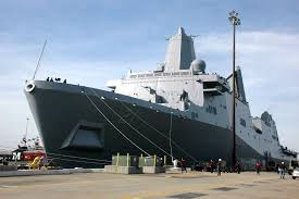 u s department of defense photo essay the amphibious transport dock ship pre commissioning unit new york lpd 21 arrives at her