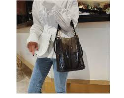 Herald Fashion <b>2pcs Women Clear Transparent</b> Shoulder Bag <b>Jelly</b> ...