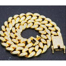 Shop Generic 2cm HipHop <b>Gold Color Iced</b> Out Crystal Miami ...