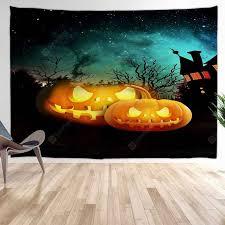 <b>Halloween Pumpkin</b> Castle <b>Digital Print</b> Background Tapestry Sale ...