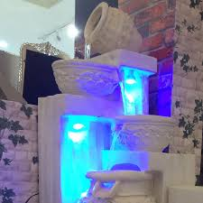 Fontana Cascata Da Giardino : Custom cascata led illuminazione da giardino fontana esterna