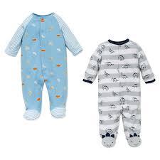 sleepwear little me 1 piece sleeper 2 pack dinosaurs and zoo animals