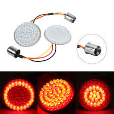<b>2</b> inch <b>bullet</b> style <b>1157</b> turn signal lights <b>led</b> panel for harley Sale ...