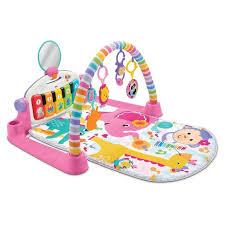Fisher-Price Deluxe <b>Kick</b> & Play Piano Gym <b>Playmat</b> - Pink : Target