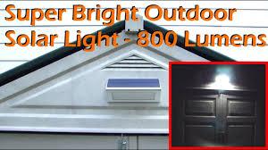 Super Bright <b>Outdoor Solar Light</b> 48 <b>LED</b> - 800 Lumens - YouTube
