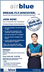 female air hostess job airblue lahore walk in interviews  female air hostess job airblue lahore walk in interviews 21 22 jan 2015