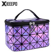 Functional Cosmetic Bag <b>Women Fashion PU Leather</b> Travel Make ...