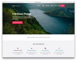 50 best responsive wordpress themes 2017 colorlib brilliance minimal landing page website template
