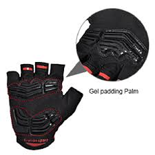 FIRELION Breathable <b>Cycling Gloves</b> (<b>Half Finger</b>) - Gel Pad Anti ...
