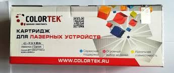 <b>COLORTEK</b> C-731 <b>black</b> – 468 руб – купить <b>картридж</b> для принтера
