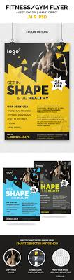 fitness gym flyer template on behance