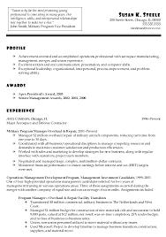 marine corps resume military resume resume for ex military us