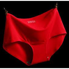 【<b>3PCS</b>】Chinese <b>New</b> Year CNY Red Woman <b>Seamless</b> Ice Silk ...