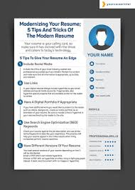 your resume 5 tips and tricks of the modern resume modernizing your resume 5 tips and tricks of the modern resume