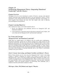 synthesizing management theory  integrating situational leadership® w…chapter  synthesizing management theory  integrating situational leadership®   the classics chapter overview thro