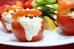 Закуски из фаршированных помидоров и перцев