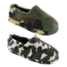 Kids Boys <b>Camouflage</b> Slipper <b>Camo</b> Full Back <b>Slippers</b> Green ...