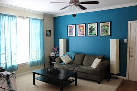 this guest room wall color blue walls brown furniture