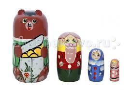 <b>Деревянная игрушка RNToys Матрешка</b> Сказка Маша и Медведь ...