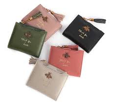 <b>Women</b> Wallet Bee Designer <b>Genuine Leather</b> Luxury Fashion <b>100</b> ...