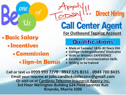 call center agent tagalog account job hiring ph cardlinks teleconn insurance agency inc immediate need of call center agents