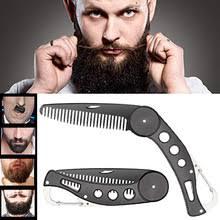 <b>Складная</b> Мужская <b>Расческа для бороды</b> из нержавеющей стали ...