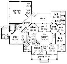 Springhill Plantation    Bedrooms and Baths   The    First Floor Plan