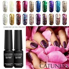 CATUNESS цветной <b>глиттер</b> гель <b>лак для ногтей</b> 3D алмаз с ...