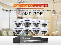 <b>Techage</b> 8CH <b>H</b>.<b>265 1080P</b> POE NVR Security Camera System 4/6 ...