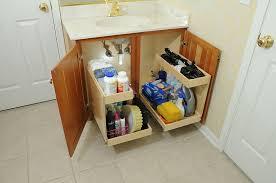 storage ideas bathroom pull drawer