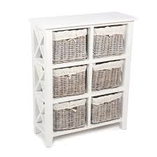 white storage unit wicker: cotswold vertical  wicker basket storage unit