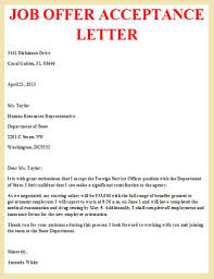 job offer acceptance letter | business letter examples job offer acceptance letter example