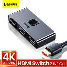 <b>Baseus HDMI Splitter 4K</b> 60Hz HDMI Switch 2 Ports Bi-Direction 1x2 ...