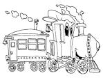Раскраска про паровозик видео