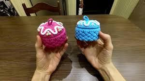 DIY Идея для подарка. Вяжем крючком <b>шкатулку</b> плетеным узором