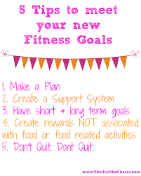 tips for having success your new fitness goals thrill of 5 tips to meet your fitness goals